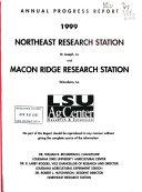 Annual Progress Report     Northeast Research Station  St  Joseph  La   And Macon Ridge Research Station  Winnsboro  La