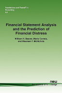 Financial Statement Analysis and the Prediction of Financial Distress