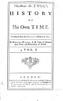 Monsieur de Thou s History of His Own Time