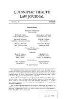 Quinnipiac Health Law Journal
