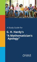 A Study Guide for G  H  Hardy s  A Mathematician s Apology