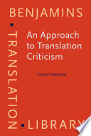An Approach to Translation Criticism