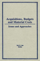 Acquisitions, Budgets, and Material Costs Pdf/ePub eBook
