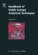 Handbook of Stable Isotope Analytical Techniques Book