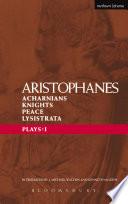 Aristophanes Plays  1