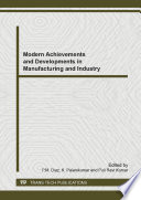 Modern Achievements And Developments In Manufacturing And Industry