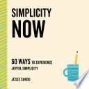 Simplicity Now Book PDF
