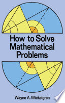 Free How to Solve Mathematical Problems Book