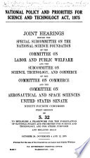 National Policy And Priorities For Science And Technology Act 1975