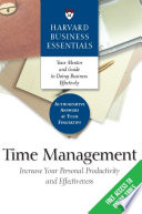 """""""Time Management: Increase Your Personal Productivity And Effectiveness"""" by Harvard Business Review"""