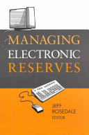 Managing Electronic Reserves