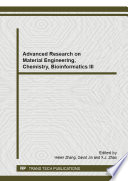 Advanced Research on Material Engineering  Chemistry  Bioinformatics III