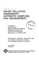Water Pollution Assessment  Automatic Sampling and Measurement