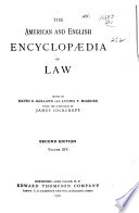 The American and English Encyclopedia of Law