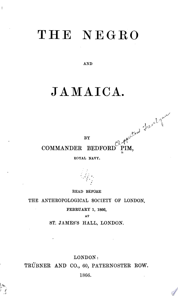 The Negro and Jamaica