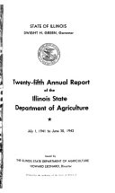 Annual Report Illinois Department Of Agriculture