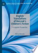 English Translations of Korczak's Children's Fiction