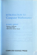 Introduction to computer mathematics - Russell Merris - Google Books