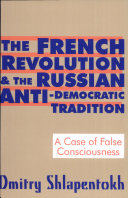 Pdf The French Revolution and the Russian Anti-Democratic Tradition Telecharger