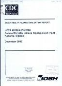DaimlerChrysler Indiana Transmission Plant  Kokomo  Indiana Book