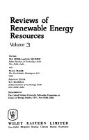 Reviews of Renewable Energy Resources
