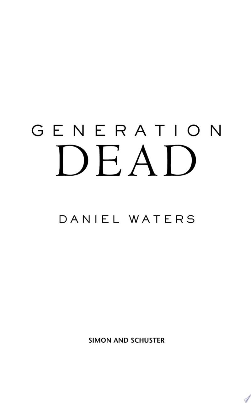 Generation Dead banner backdrop
