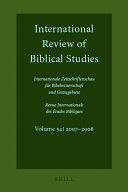 International Review of Biblical Studies   Internationale Zeitschriftenschau Fur Bibelwissenschaft Und Grenzgebiete