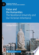 Value and the Humanities Book