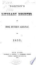 Norton's literary register and book buyer's almanac or annual book list