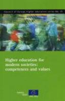 Higher Education for Modern Societies Pdf/ePub eBook