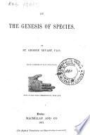 On the Genesis of Species