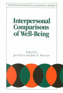 Interpersonal Comparisons of Well-Being