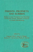 Priests  Prophets and Scribes
