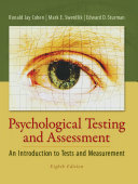 Psychological Testing and Assessment   An Introduction to Tests   Measurement Book PDF