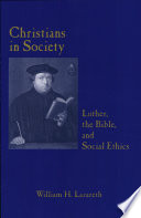 Christians In Society Book