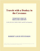 Travels with a Donkey in the Cevennes (Webster's French Thesaurus Edition)