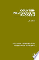 Counter Insurgency in Rhodesia  RLE  Terrorism and Insurgency