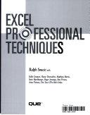 Excel Professional Techniques Book