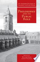 Philosophy and Its Public Role Book