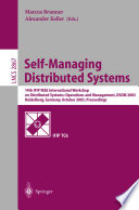 Self Managing Distributed Systems