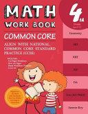 4th Grade Math Workbook Common Core Math