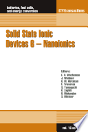 Solid State Ionic Devices 6 Nano Ionics Book PDF