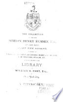 Catalogue of the Library of the Late Simeon Henry Remsen, Esq., of New York