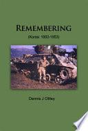 Remembering  Korea  1950 1953  Book