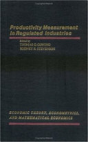 Productivity Measurement In Regulated Industries Book PDF