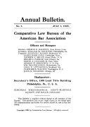 Annual Bulletin Comparative Law Bureau Of The American Bar Association
