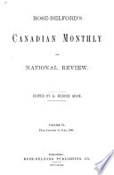 Rose Belford s Canadian Monthly and National Review Book