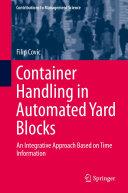 Container Handling in Automated Yard Blocks Pdf/ePub eBook