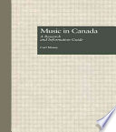 Music in Canada Book