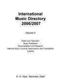 International Music Directory 2006 2007